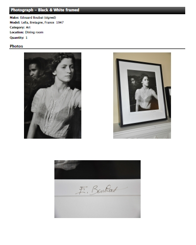 Item Detail Report - Photograph